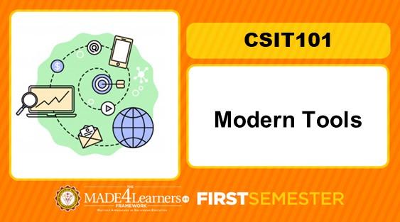 CSIT101 Modern Tools