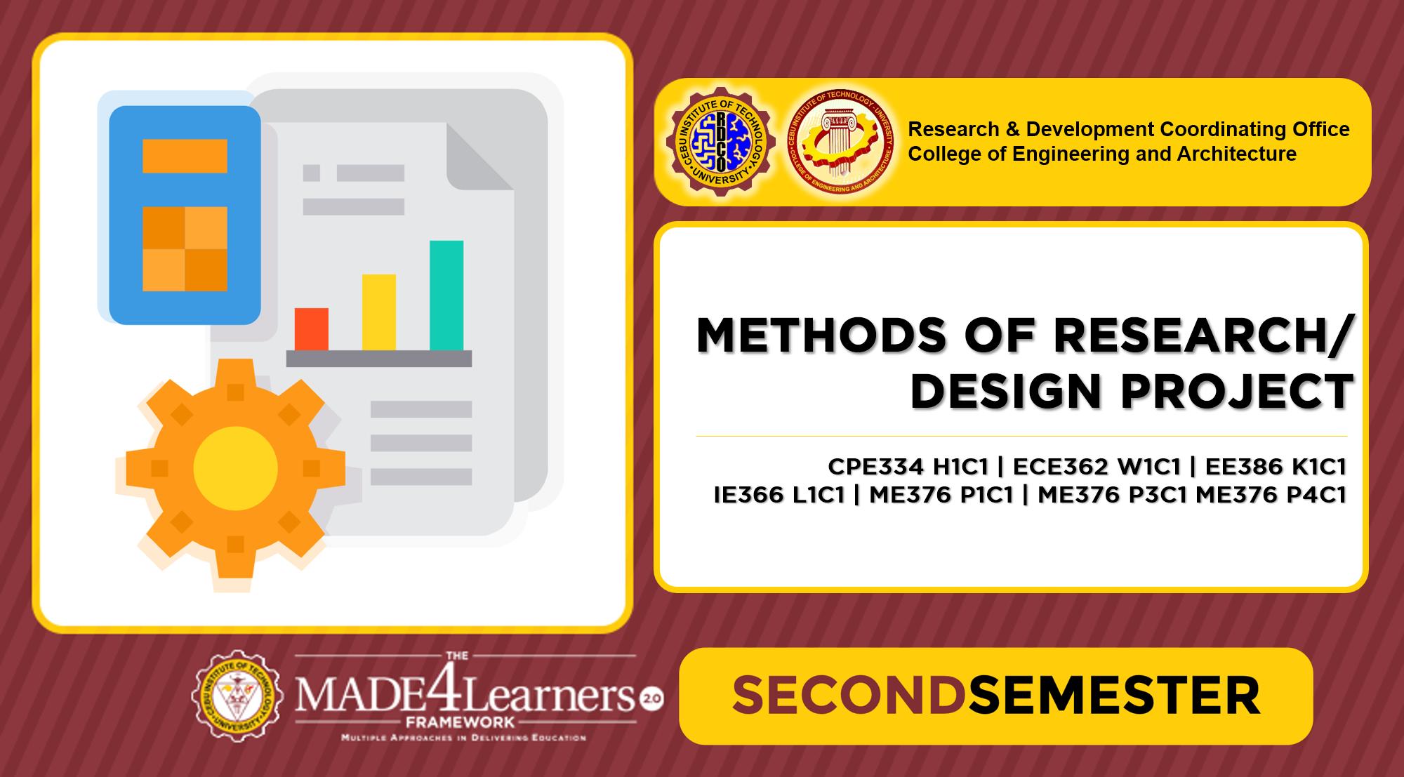 Methods of Research (MOR) / Design Project (DES)