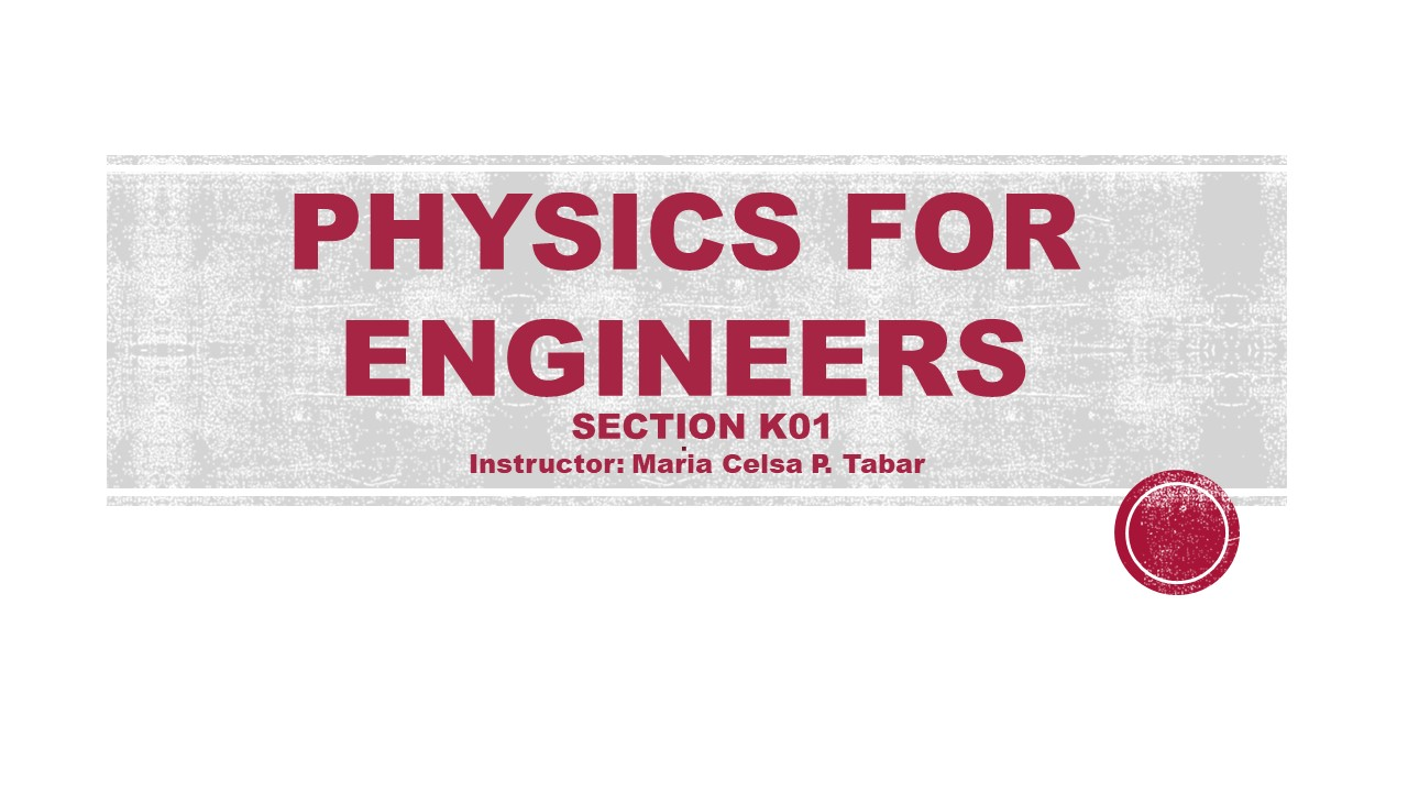 PHYS132K01 Physics for Engineers (Summer 2020)